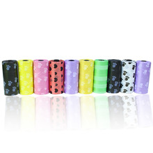 6 Rolls/90 Pcs Degradable Pet Dog Waste Poop Bag With Printing Doggy Clean Bags @