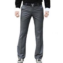 Микро-рог Мужской весна и осень новые брюки Slim Бизнес Повседневное диких большой Штаны горячая широкие брюки штаны более Размеры 37
