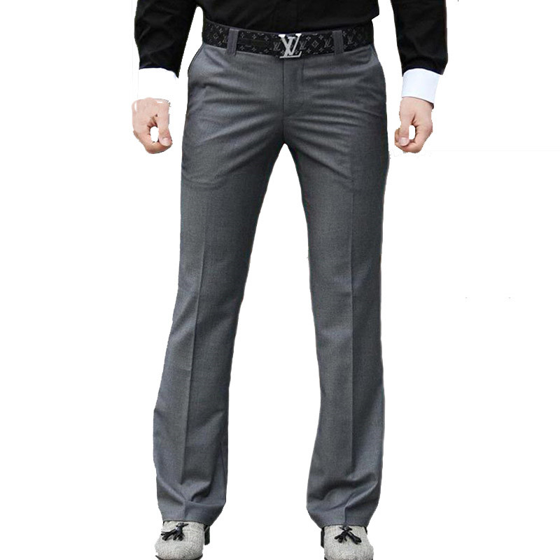 Micro-horn Male Spring And Autumn New Trousers Slim Business Casual Wild Big Pants Original Free Hot Wide Leg Pants More Size 37