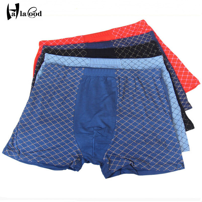 Hot sell 2017 new mens boxers shorts fashion sexy man underwear brand large size Male fat panties plus size loose boxers shorts
