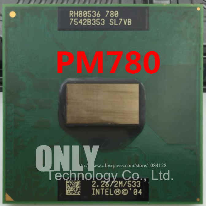 Per CPU intel PM780 notebook CPU Pentium M Processor 780 2M Cache, 2.26 GHz, 533 MHz PM 780 CPU Del Computer Portatile processore PPGA478