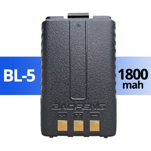 Image 2 - 5Pcs Baofeng UV 5R Batteria Originale UV 5R 5RE Radio di Sostegno Walkie Talkie Batteria 1800mah li ion Batterie BL 5 7.4V Ricaricabile