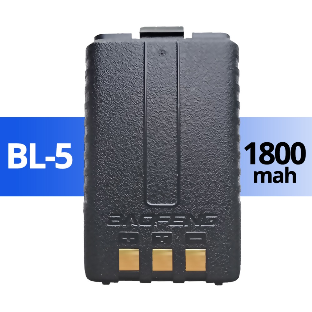 Baofeng UV-5R Original Battery UV 5r 5ra 5re Radio Backup Battery Walkie Talkie 1800mah Li-ion Batteries BL-5 7.4V Rechargeable