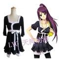 Anime Bakemonogatari Senjougahara Hitagi Black Costume Cosplay Free Shipping