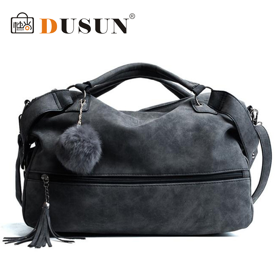 DUSUN Brand Designer Handbags Women Luxury Tassel Bag Female Hair Ball Messenger Bags Woman 2017 Vintage Bolsa Feminina Ladies dusun embroidery floral handbag women vintage messenger bags ladies brand designer shoulder bag female luxury bolsa feminina sac