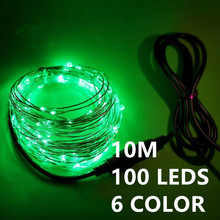 6 color 10M 100leds LED String Light Fairy Lights with 12V 1A Power Adapter Christmas New Year Wedding Decoration Lights