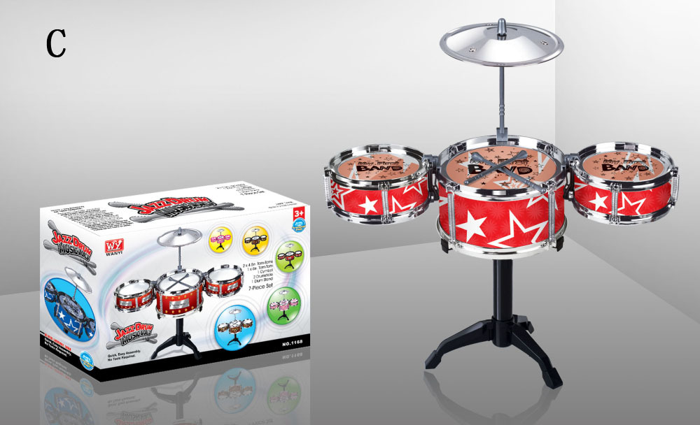 7pieces-serie Educatief speelgoed voor kinderen Muziekinstrument Drumstel speelgoed Tom-tom Drumstel speelgoed Jazz drum babyspeelgoed