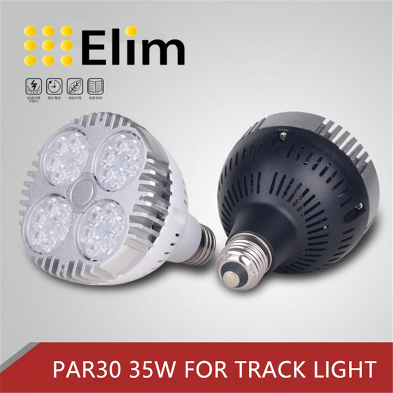 Led bulb LED track light <font><b>PAR30</b></font> 45W 30W 40W <font><b>E27</b></font> Osram 3000K 4000K 6000K LED light for led light track light living room image