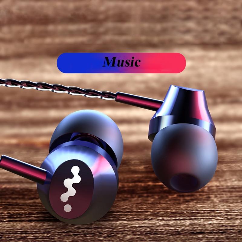 Sport Earphone Headphone With Microphone Computer Headset PTE 3.5mm Headphones  Wired Earphones