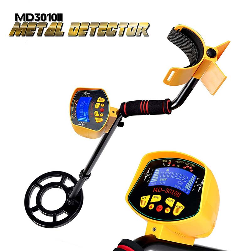 KKTECT MD3010II Gold Digger Metal Detector Underground High Sensitivity Treasure Hunter Metal Finder Long Handle with Display high sensitivity underground metal detector professional underwater search gold digger md 4080 searching treasure hunter finder