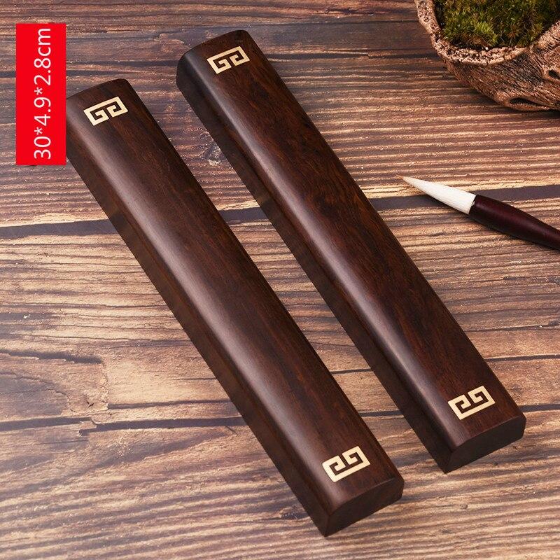 Presse-papiers en bois de santal de qualité fournitures de peinture et d'écriture chinoises pour artiste peinture calligraphie presse-papiers fournitures d'art