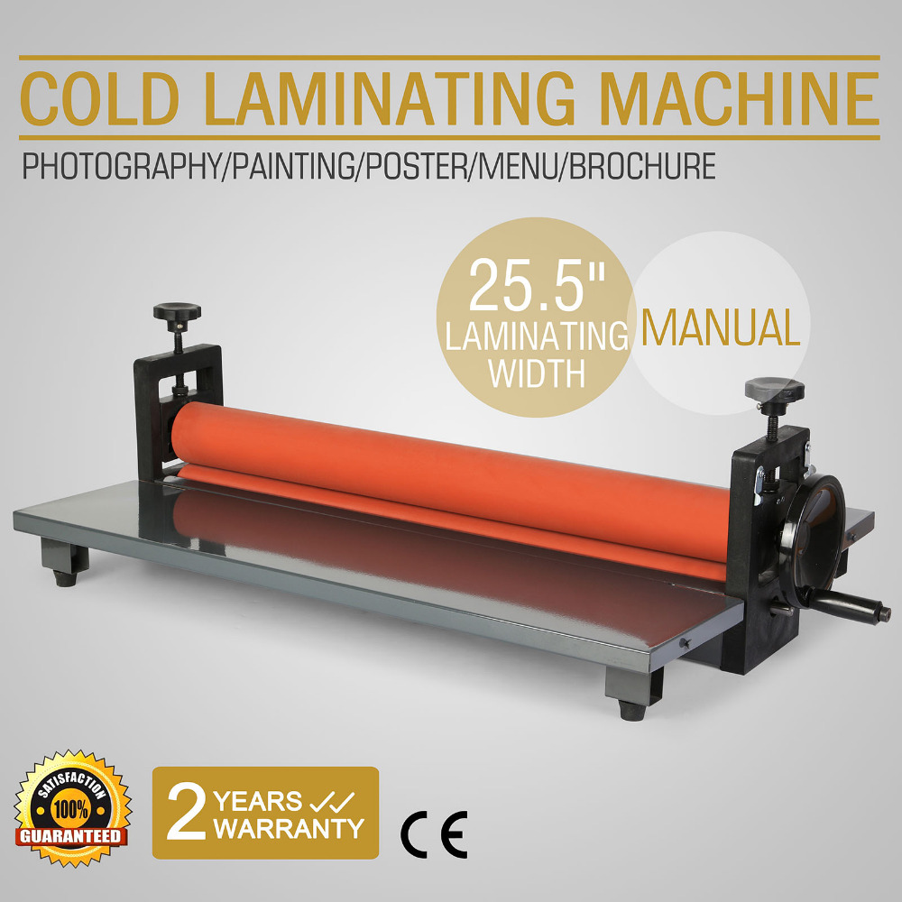"""25.5"""" 650mm manual cold roll laminator 4 roller system vinyl photo"""