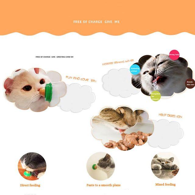 2018 Nuovo Erba Gatta Zucchero Gattini Caramelle Palla Leccare Solido Gel Nutrizione Energia Pet Food Salute e Bellezza Vomito Palla Peli di Gatto Snack