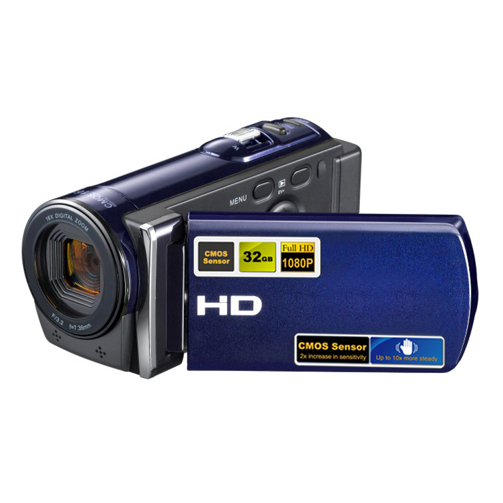 ФОТО HDV-601S 1080P Full HD 16x Digital Zoom Digital Video Camera Camcorder with 3'' TFT LCD Max.20MP, 2 colors for choose