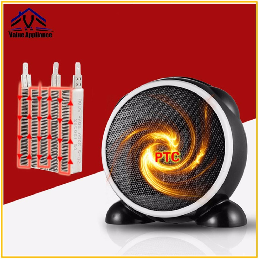 Mini Electric Table Fan Heater Fast PTC