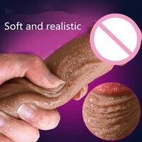Super Soft Grande Dildo di Silicone Realistico Ventosa Pene Cazzo Dildo Pene Artificiale Maschile Donne Masturbatore Giocattoli Del Sesso Per Le Donne.
