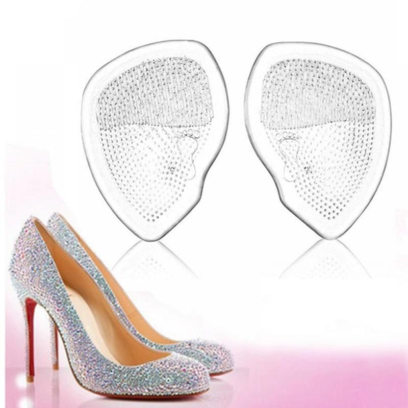 1 Paar Gel Vorfuß Silikon Schuh Pad Einlagen Hohe Ferse Elastische Kissen Komfort Orthesen Arch Support Pads Non Slip