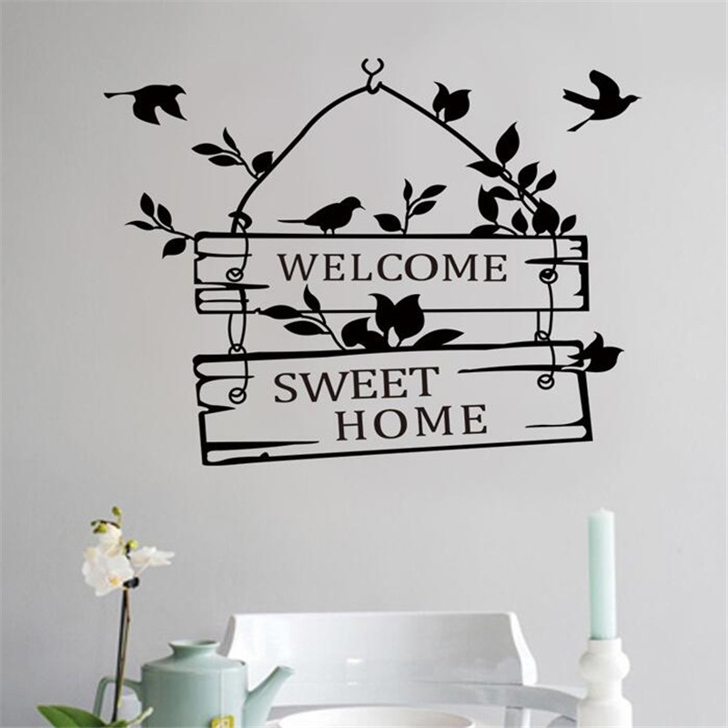 IDFIAF 1PCS Rural Wind Wall Sticker Sitting Room Bedroom Home Decoration Ideas  Vinyl Wall Stickers Wholesale And Waterproof In Wall Stickers From Home ...