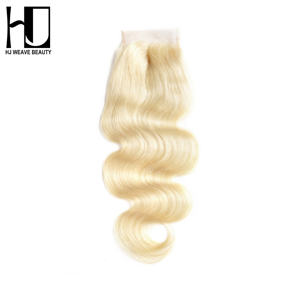 Hair Extensions & Wigs Honey Hj Weave Beauty Hair Blonde Lace Closure Body Wave Closure Color #613 Brazilian Remy Hair Closure Middle Part Free Shipping Closures