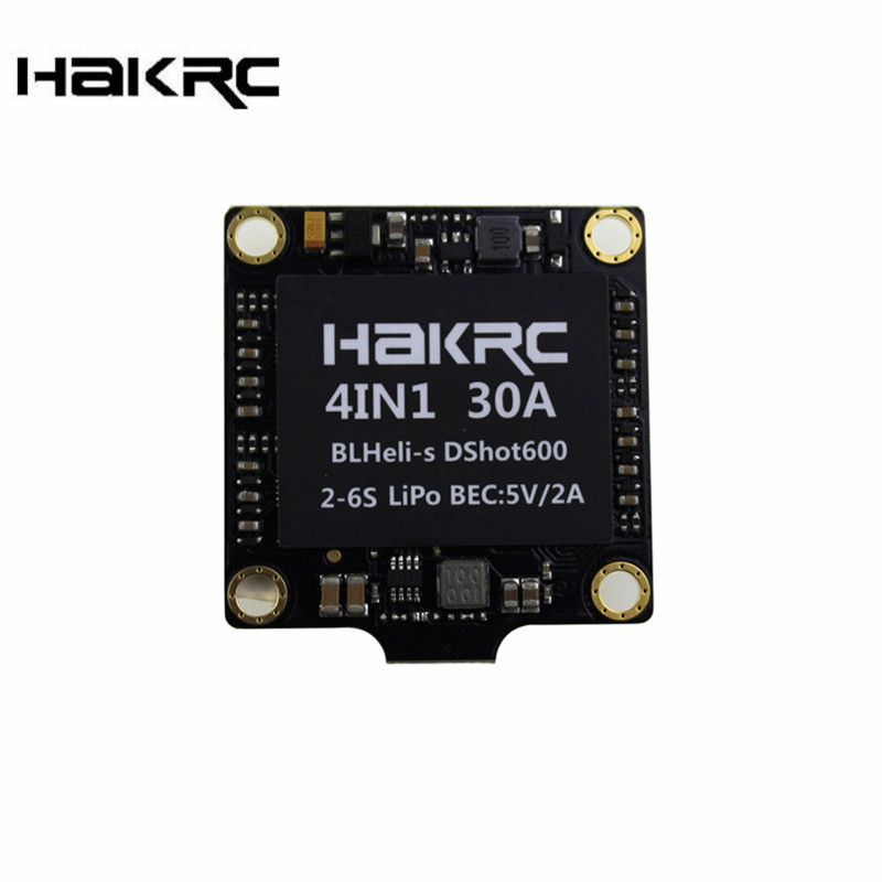Hakrc 30A 30amp 4 In 1 ESC BLHeli_S BB2 2-6S Dshot600 Built-in 5V 2A BEC For RC Quadcopter Drone DIY Multirotor Spare Part Accs original aosenma cg035 rc quadcopter spare part gps receiver board for rc models toys multirotor transmission accs