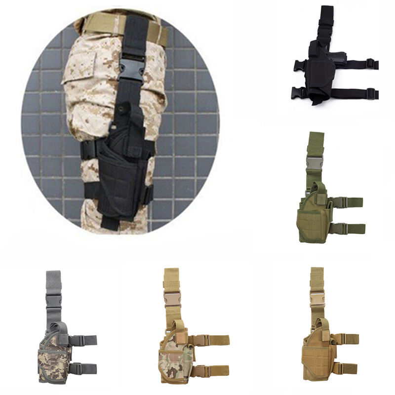 Adjustable Tactical Tornado Leg / Belt Holster Military Shooting Gun Drop Thigh Holster Airsoft Magic Strap Fits All Size Gun