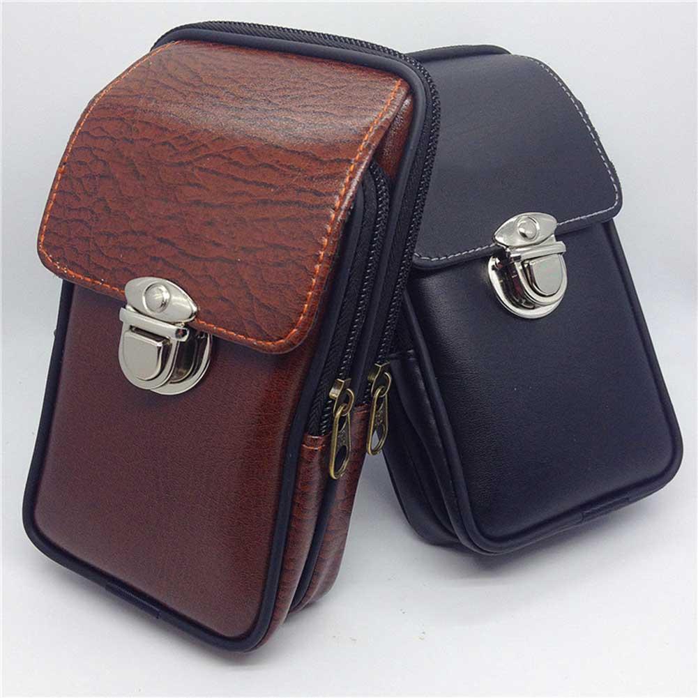 Fashion Men Waterproof Flap Lock Waist Bag Phone Card Holder Bum Belt Fanny Pack