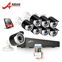 ANRAN Plug And Play 8CH CCTV System 48V POE NVR Kit Onvif P2P 1080P 2 0MP