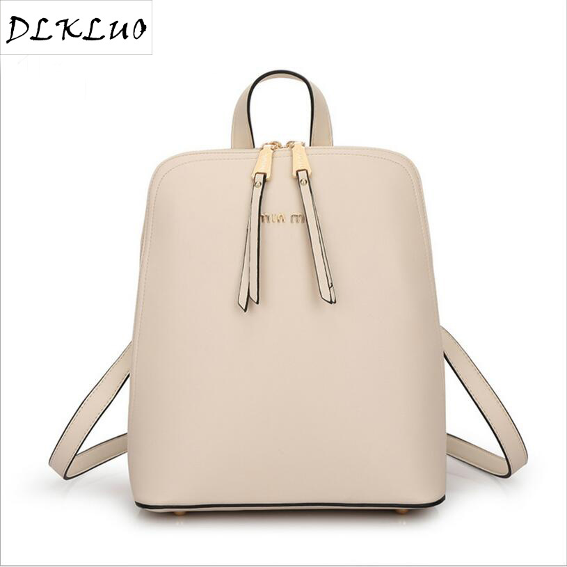 Fashion Genuine Leather Backpack Women Bags Preppy Style Backpack Girls School Bags Zipper Kanken Leather Backpack nawo fashion genuine leather backpack rivet women bags preppy style backpack girls school bags zipper large women s backpack sac