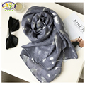 1PC 2016 Fall New Europe Style Viscose Cotton With Silver Feather Printed Women Long Scarf Thin Woman New Viscose Pashmina