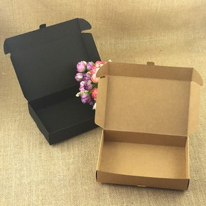 Image 4 - 50pcs/lot Brown Kraft Craft Paper Jewelry Pack Boxes Small Gift Box For Biscuits Handmade Soap Wedding Party Candy Packaging Box