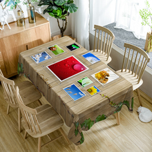 Pastoral style Polyester 3D Tablecloth Yellow Sunflower Flower Print Waterproof Rectangule table cover cloth Wedding Decoration недорого
