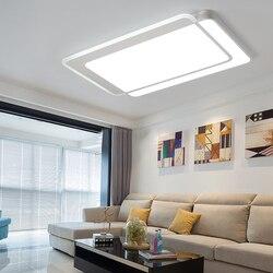 Lustre lampy sufitowe LED lampa do salonu sypialnia gabinet Home Deco AC85-265V nowoczesna biała powierzchnia montaż sufitowy lampa