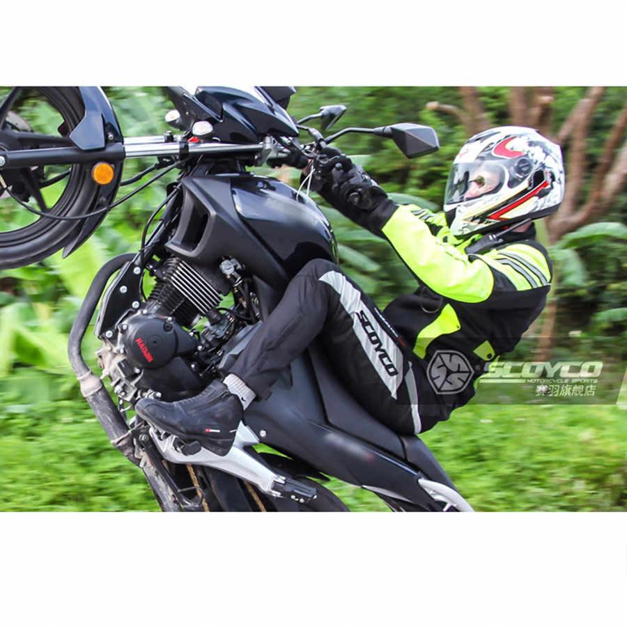 SCOYCO мужские мотоциклетные куртки противоударные дышащие туристические куртки для мотоцикла скутер Светоотражающая мотоциклетная куртка для мужчин JK36