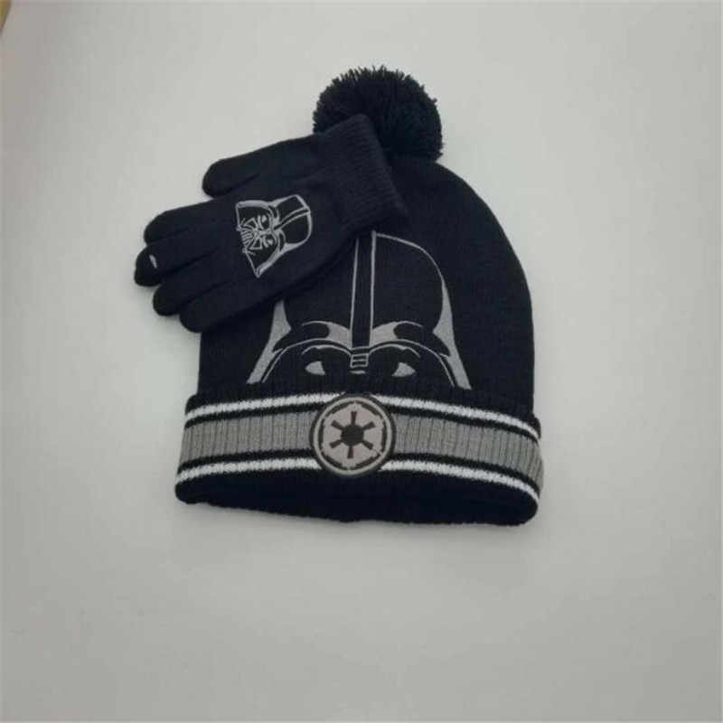 cad0588c0bb312 ... Movie Star Wars Darth Vader Cosplay Costume Accessories Keep Warm Hats  Trooper Knitted Hat Children Adults