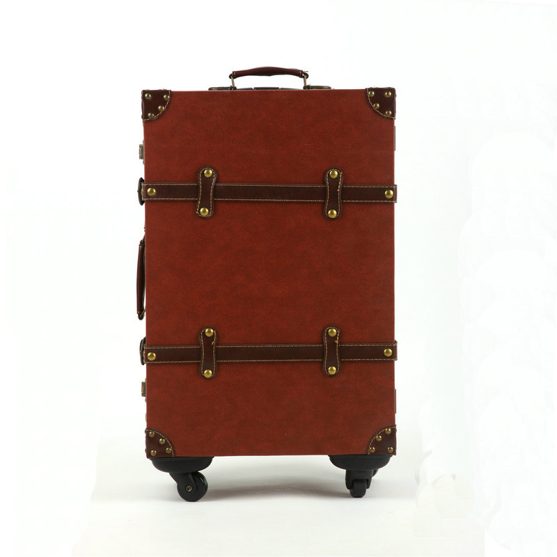 Fashion universal wheels trolley luggage female luggage password box vintage travel bag,euro style 14 20 22 24inch travel luggag