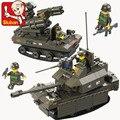 Bloques de Construcción Sluban M38-B0289 419 unids DIY Bloques de juguete Ejército para niño Ladrillos Niño Juguetes Para Niños los Mejores Regalos de Navidad Compatible Con Legoe