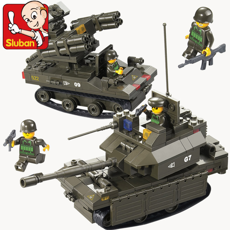 Sluban M38-B0289 Building Blocks 41DIY Block Army toy for boy Bricks Boy Toys Kids Best Xmas Gifts Compatible With Legoe