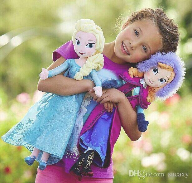 Unique Gifts High Quality Sweet Cute Girls Toys Princess Anna and Elsa Doll Pelucia Boneca Plush