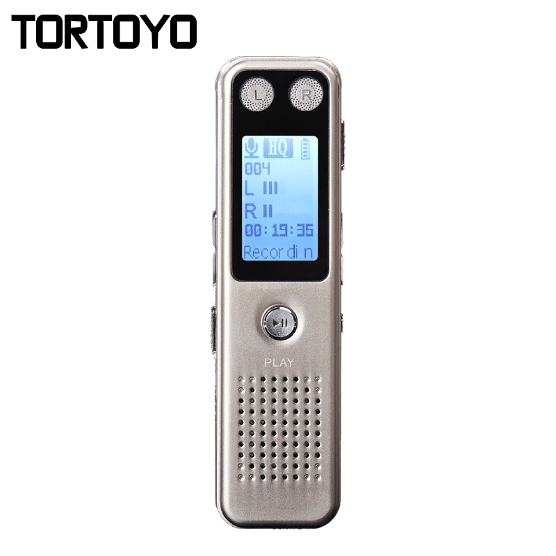 Mini Portable Long Standby 8GB HD Digital Voice Recorder MP3 Player Audio Playback Noise Reduction Sound Control Recording Pen