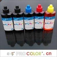 WELCOLOR 370 BCI-370BK Pigment mürekkep 371 BCI-371BK Boya mürekkep dolum kiti için Canon PIXUS TS6030 TS5030 MG5730 CISS mürekkep püskürtmeli yazıcılar