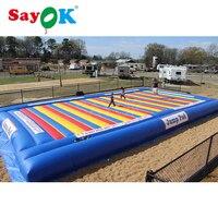 10x10 м надувные прыгать Pad Открытый Pad батут воздуха коврики джемпер гигантские игрушки для детей надувной для коммерческих применение