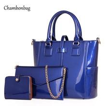 Composite handbag Set Women Leather Handbags Brand Women Messenger Bag Shoulder Bag Patent Leather Female Handbag