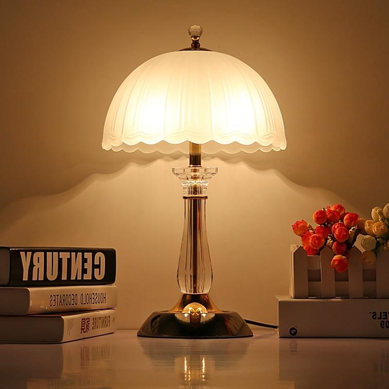 цена wedding anniversary NEW  Modern minimalist style lamp light adjustable table lamp bedside bedroom lamp glass lamp ZCL онлайн в 2017 году