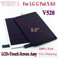 """WEIDA LCD Ersatz 8 """"Für LG G Pad X 8 0 V520 V522 V525 V521 LCD Display Touch Screen weiß/Schwarz-in Tablett-LCDs und -Paneele aus Computer und Büro bei"""