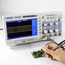 Hantek Dso5102p en iyi dijital osiloskop 100mhz 2 kanal osiloskop 1gsa/s 7 Tft Lcd daha iyi Ads1102cal + osiloskop kiti