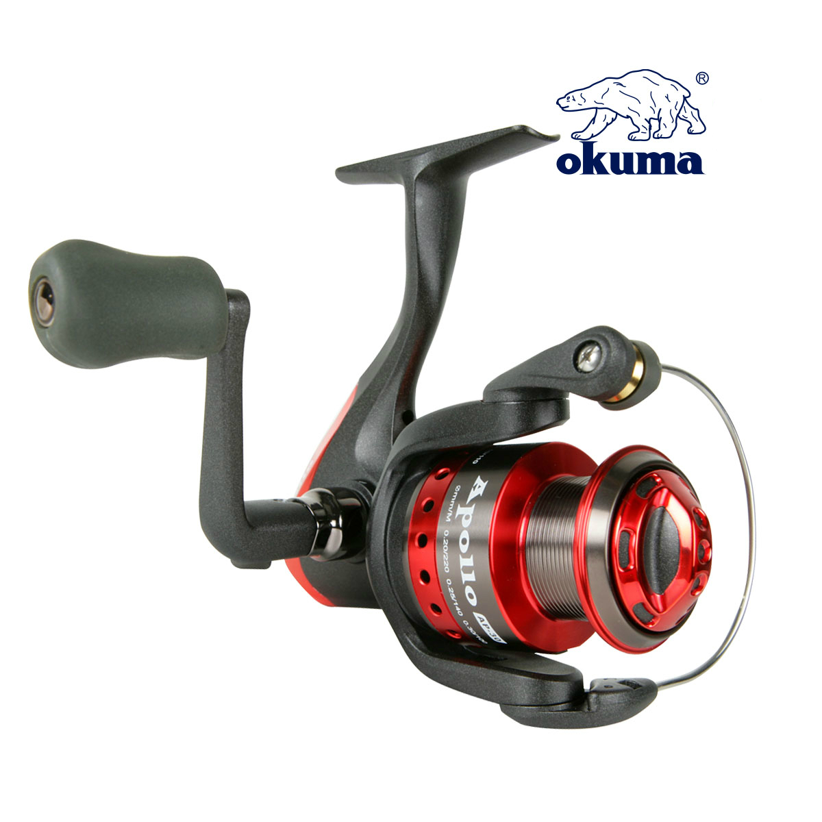 Okuma Apollo APII-40 Fishing Reel Spinning Reel 4000 Series Gear Ratio 5.0:1  Bearing 5+1 Lure Reel Sea River Fishing Tackle dream m19 multifunctional opie fishing reel bag fishing bags pole tackle military lure reel backpack fishing gear 33 13 23cm