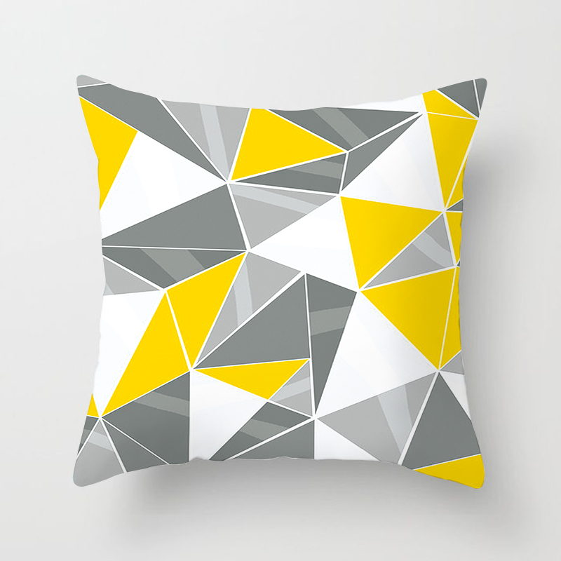 Fuwatacchi Geometric Cushion Cover Orange Yellow Stripe Diamond Wave Pillow Cover for Home Chair Sofa Decorative Pillows 45 45cm in Cushion Cover from Home Garden