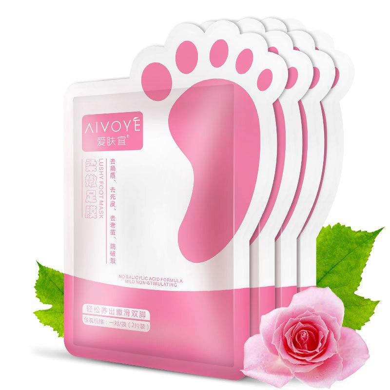 AFY (AIVOYE) 2 teile/beutel Fuß Maske Dead Skin Remover Pflanzlichen Essenz Fußpflege Bleaching Feuchtigkeitsspendende Peeling Füße Maske membran