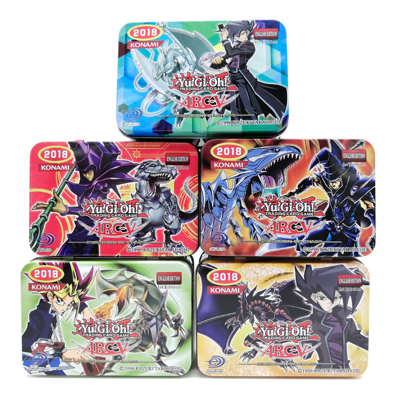41pcs/set Yugioh Card Iron Box Package English Version Boys Girls Play Game Yu Gi Oh Game Collection Cards Christmas Gift earrings