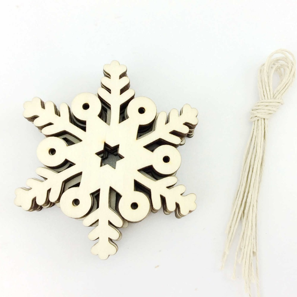 Small wooden ornaments - Free Shippingwood Carving Christmas Crafts Small Wood Crafts Snowflake Design China Mainland